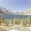 A horizontal stock photograph of Wild Goose Island. St. Mary's lake east glacier area of Glacier Nat. Park,Montana.