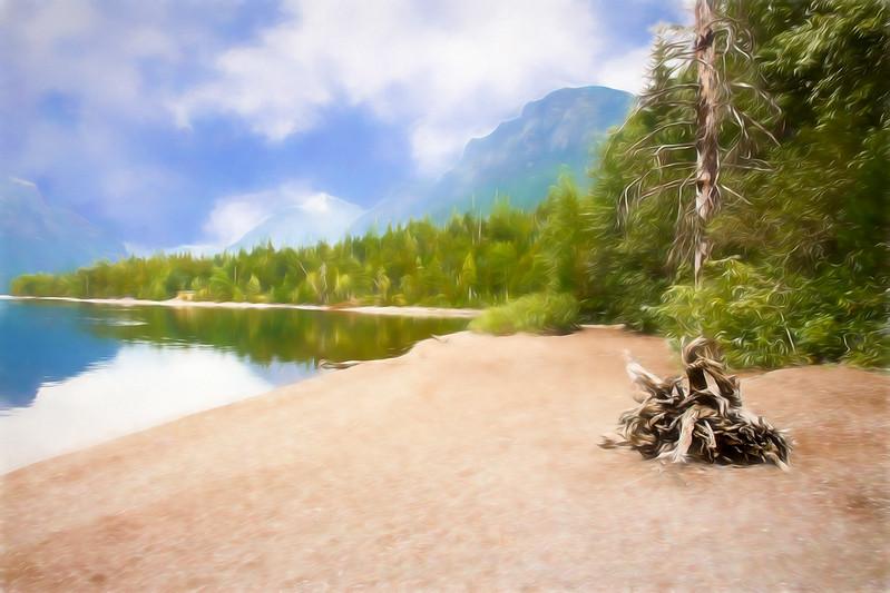Lake McDonald in Glacier Nat. Park