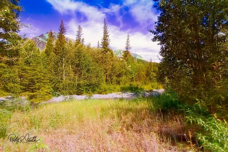 A serene  Glacier Nat.Park landscape.