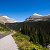 A horizontal stock photograph of a mountain view from the going to the sun road.East Glacier National  Park. North West  Montana