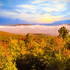 Morning autumn landscape Northern New hampshire