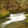 A small waterfall on Wykoff run Pennsylvania