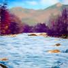 Pemigewasset River White Mountains New Hampshire.