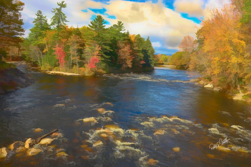 Saco River in Northern New Hampshire.