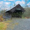 Happy Corner Covered Bridge Pittsburg New Hampshire.