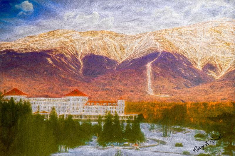 Mount washington Hotel, Mountain in the background