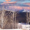 Winter mountain scene in New hampshire.