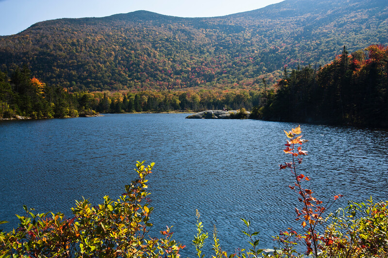 A horizontal stock photograph  of the Beaver Pond Scenic area off RT. 112  New Hampshire White Mountain area.