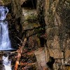 Flume Brook Waterfall at Dixville Notch New Hampshire.