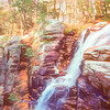 Mountain waterfall,white mountains New Hampshire