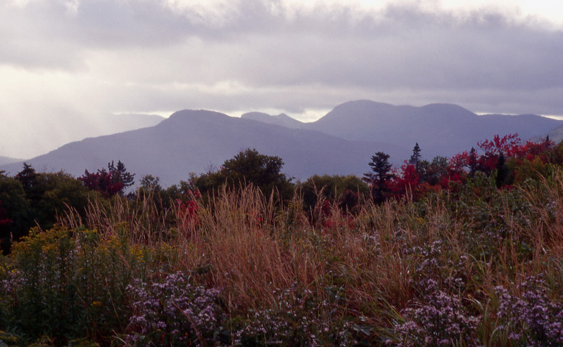 A view of the White Mountains of New Hampshire from the Kancamagus Highway.