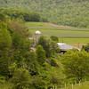 A  vertical stock photograph of a working dairy farm in central Pa. a scenic view on a beautiful summer day.
