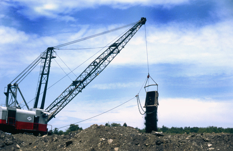 Strip mining for soft coal in central Pennsylvania.