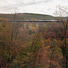 A horizontal Stock Photograph of the interstate 80 viaduct bridge near Snoeshoe Pennsylvania.Showing vehicles on the overpass.