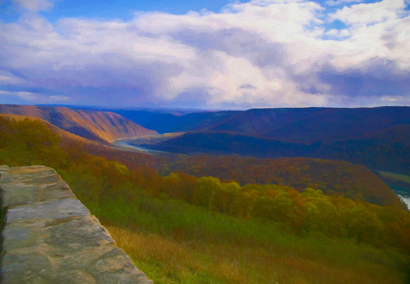 A scenic view from Hyner view state park.