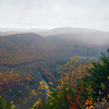 A horizontal stock photograph of a scenic fall  view overlooking Penns valley,Pennsylvania.