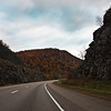 A horizontal stock photograph of  Interstate 80 in central Pennsylvania.