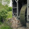 The water wheel that provided power for the Curtin Village iron works in central Pennsylvania.