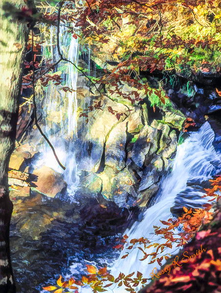 A double waterfall,