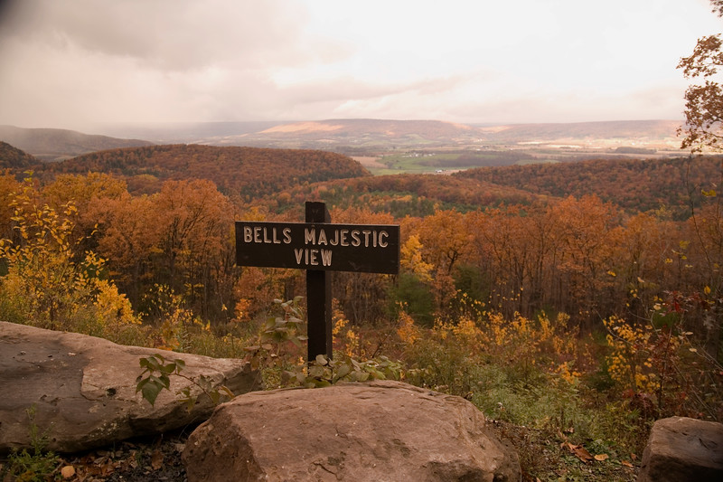 A horizontal stock photograph of Bells Majestic view, scenic overlook in central Pa.