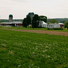 working dairy farm in central Pa. a scenic vertical view
