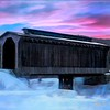 Fisher raiilroad Covered Bridge Wolcott Vermont.
