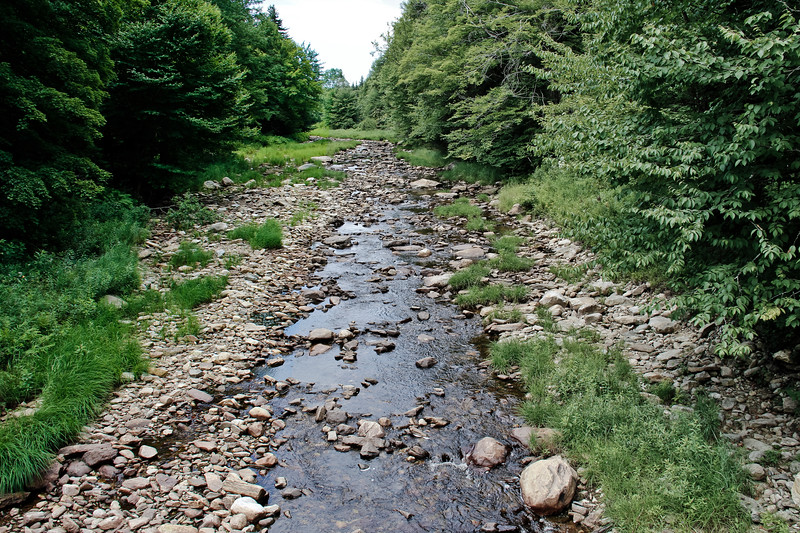 A horizontal stock photograph of a small stream near somerset vermont. A beautiful summer day.