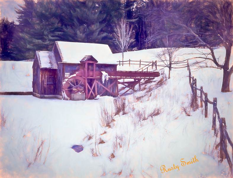 Winter at the gristmill.