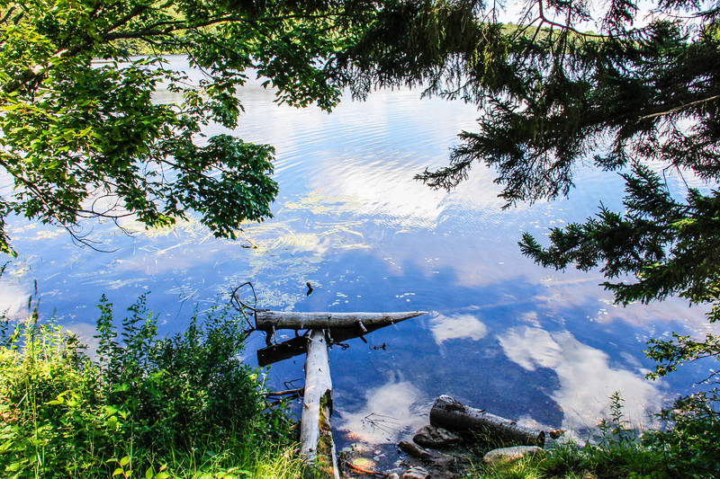 a horizonntal stock photograph of Somerset reservoir,in Southern Vermont