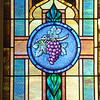"""Vine and branches"" stained glass window depicting John 15:5."