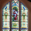 """The south transept window depicts the words of Christ in Rev. 3:20 to the church of the Laodiceans, 'I stand at the door and knock.'""<br /> <br /> SOURCE: <a href=""http://www.immanuellutheranonline.org/who_we_are.html#history"">http://www.immanuellutheranonline.org/who_we_are.html#history</a>"