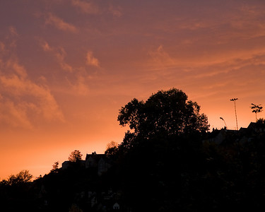 Evening skyline from my bedroom in Bradford-on-Avon