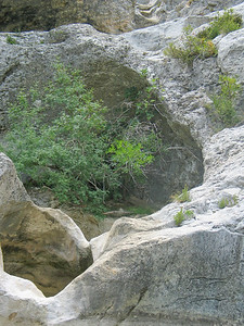 Dried river bed in the Gard department of France near Allegre-les-Fumades