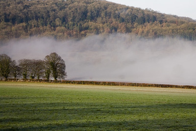 The tail of the mist over the Avon near Bathford on a late winter's morning.