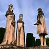 Escultura de Cristóvão Colombo e dos Reis Católicos