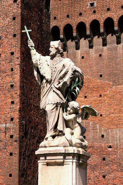 Escultura no Castelo Sforzesco