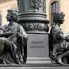 Esculturas no Centro Histórico de Dresden
