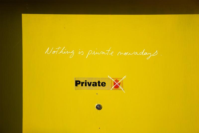 Hoje em dia nada é privado