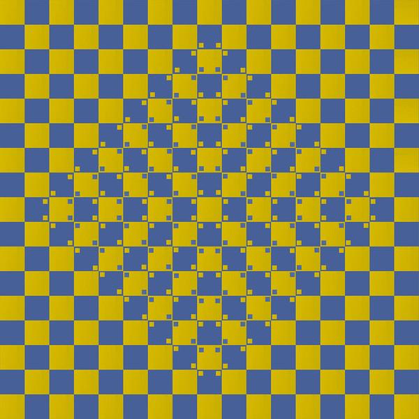 Ilusão do tabuleiro abaulado 01