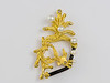handmade coral reef brooch, argyle diamonds, seedless Broome pearls, native gold (22ct)<br /> natural black coral, 18cty brooch