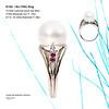 18ct Palladium white gold ring