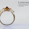 18ctPWG Octahedron Diamond ring