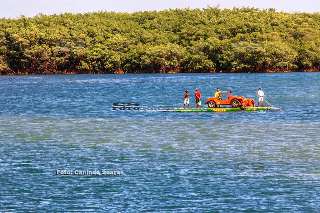 Travessia de balsa no Rio Ceará-Mirim