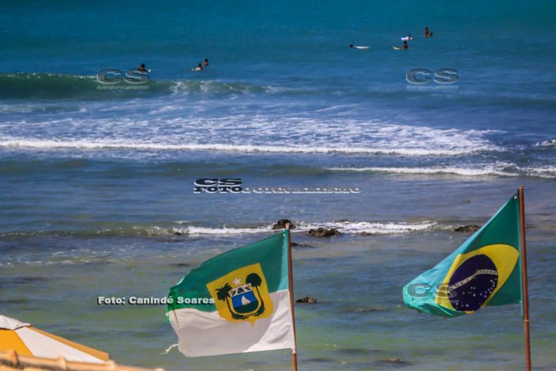 Bandeira do Brasil e do RN