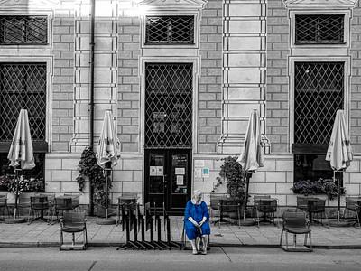 Espera en blue