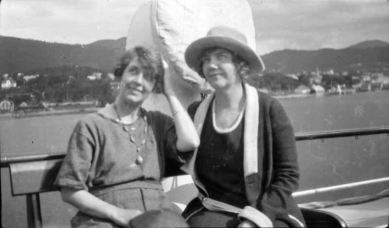 #1 Two women onboard ship