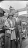 #5 Anna B Stebbins & man stand by car