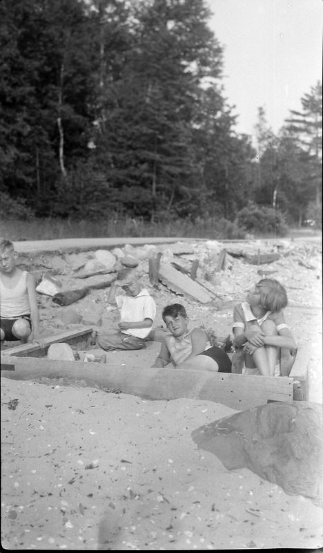 25-a Children play in sand-box Roaring Brook