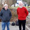 Les Saunders (41M) and Eamon Egan (Hawthorn) enjoying the moment...