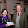 Clare makes a presentattion of cheque for €2210 on behalf of Lough Derg Branch IWAI to Nick Theato, RNLI Dromineer.